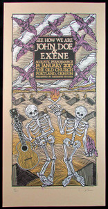 John Doe & Exene Poster The Old Church Portland Signed Silkscreen Gary Houston