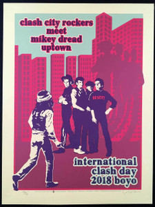 International Clash Day Poster SN 70 Clash City Rockers Mikey Dread Gary Houston