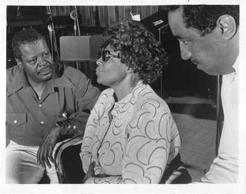 Original Ella Fitzgerald 8 x 10 b&w Glossy Photo w Oscar Peterson & Ray Brown