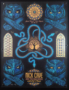 Nick Cave Poster Cat Power Greek Theater S/N 100 Signed Silkscreen Todd Slater