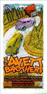Avett Brothers 2010 Original Silkscreen Concert Poster by Gary Houston