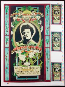 Albert Collins Poster Gassy Jack's 1971 Original Uncut Proof Signed by Bob Masse