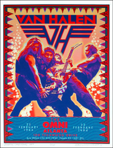 Van Halen Poster 1984 Tour New Artist's Edition by David Byrd Signed & Numbered
