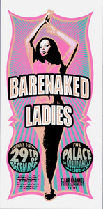 Barenaked Ladies Poster 2001 Original Signed Silkscreen Mark Arminski