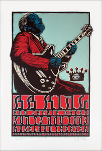 BB King Poster Jackie Green Original Signed Silkscreen by Gary Houston