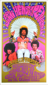 Jimi Hendrix Poster The Saville London 1966 Nice Reprint B. Masse K. Ferris