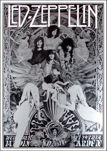 Led Zeppelin Ultimate Fan Poster Song Remains the Same by Steve Harradine