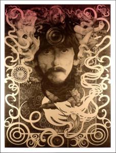 George Harrison Ultimate Fan Poster Silver Ink Beautiful by Steve Harradine