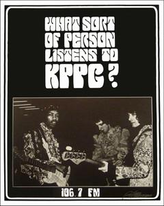 Jimi Hendrix KPPC Radio Pasadena Promo Nice Reprint Signed by Bob Masse