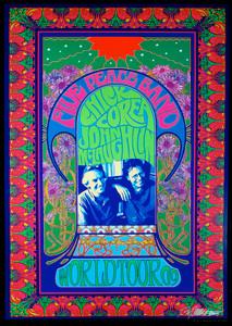 Chick Corea John McLaughlin 2009 World Tour Poster Signed by Bob Masse