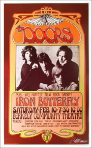 Doors Poster Poster Berkeley 1968 Nice Reprint Signed Silver Ink Bob Masse