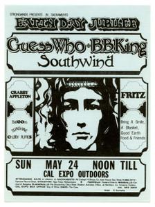 Guess Who BB King Fritz w Stevie Nicks Original Handbill Cal Expo 1970