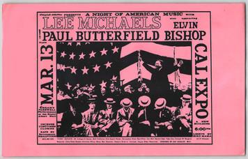 Lee Michaels Paul Butterfield Original Poster Handbill Cal Expo Sacto 1970