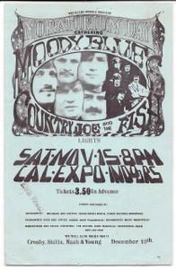 "Moody Blues Original 1969 Handbill Cal Expo Sacramento ""Moratorium Day"""