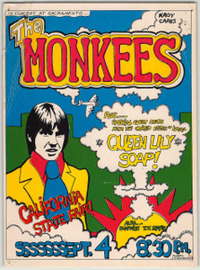 The Monkees Original Handbill Live at the California State Fair 1967