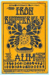 Iron Butterfly AUM Rare Original Handbill Cancelled Sacramento Concert 1968