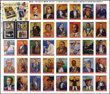 R. Crumb Early Jazz Greats Uncut Proof Sheet