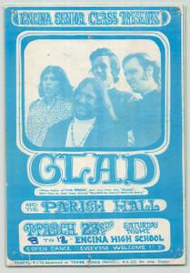 Glad Timothy B Schmit Original Handbill Encina High School Sacramento 1968