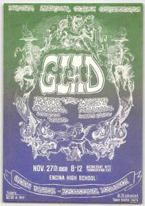 Glad w Eagles' Tim Schmidt Handbill Encina High School Sacramento 1968 Mint