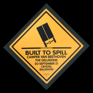 Built to Spill Camper Van Beethoven Signed Silkscreen Poster by Gary Housto