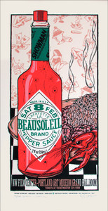 BeauSoleil Poster Portland Art Museum 1997 Signed Silkscreen Gary Houston