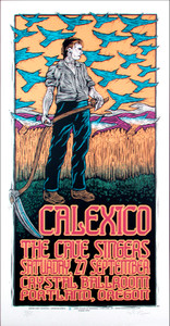Calexico Poster The Cave Singers Original Signed Silkscreen by Gary Houston