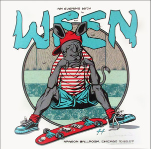 Ween Concert Poster Aragon Chicago Just 150 Hand-Signed Justin Hampton