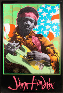 Jimi Hendrix Performance Poster by Frank Kozik Artrock 1995 Rare and NM