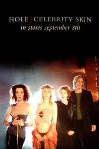Courtney Love Hole Two-sided Promo poster Celebrity Skin September 1998