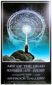 Art of the Dead Grateful Dead Art Show Poster Artrock Gallery Mustafa Muwwakkil 1991