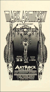 Mark Arminski Poster Legal Defense Fund Benefit & Reception Artrock Galley 1998