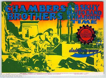 The Chambers Brothers Original Vintage Handbill Sound Factory Sacramento 1968