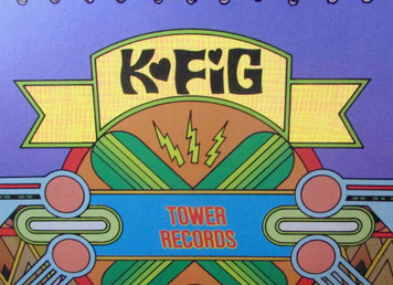 Tower Records Original Poster Calendar Series Frank Carson '76 KFIG Radio Fresno