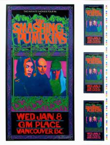 Smashing Pumpkins Poster Infinite Sadness Tour 1995 Signed Original Uncut Proof