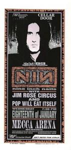 NIN Nine Inch Nails Original Poster Handbill Mecca Arena 1995 Mark Arminski NM