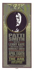Patti Smith Lenny Kaye Original Poster Handbill Detroit 1995 Mark Arminski NM