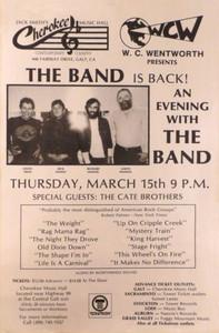 The Band Poster Jack Smith's Cherokee Music Hall 1984 Very Rare Ships FREE!