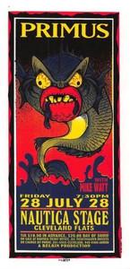 Primus Original Poster Handbill Portland Rose Garden 1999 Mark Arminski NM