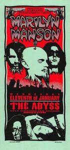 Marilyn Manson Original Poster Handbill The Abyss Houston 1994 Mark Arminski NM