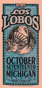 Los Lobos Poster Handbill Michigan Theater October 1996 by Mark Arminski NM