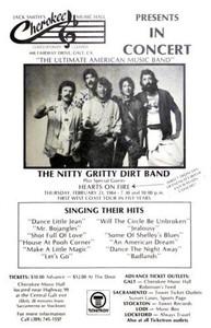 Nitty Gritty Dirt Band Poster Cherokee Music Hall Galt 1984 Bojangles FREE SHIP