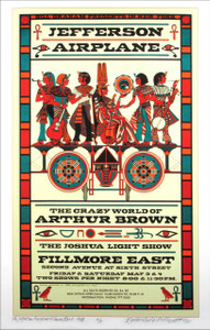 Jefferson Airplane Poster at Fillmore East Artist's Edition Signed by David Byrd
