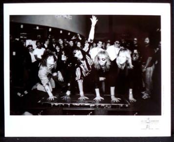 AEROSMITH Rare Press Photo Hand Prints at Guitar Center Rockwalk L.A. 1990