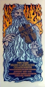 2011 West Coast Beard and Mustache Championships Poster Signed Silkscreen