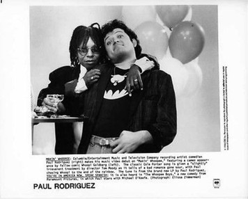Paul Rodriguez and Whoopie Goldberg 1986 Orig Columbia Records 8x10 Press Photo