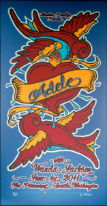 Adele Poster Wanda Jackson Seattle Signed Silkscreen Gary Houston 2011