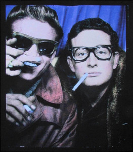 "Waylon Jennings Buddy Holly Poster Grand Central Station 1959 20"" Tinted Giclee"