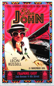 Elton John Poster New Numbered Artist Edition 100 copies Signed David Byrd COA