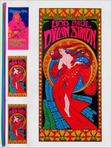 Bob Dylan Paul Simon Concert Poster 1999 Original Uncut Proof Signed Bob Masse