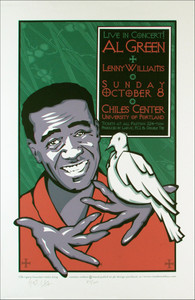 Al Green Poster Chiles Ctr 2000 Original Signed Silkscreen by Gary Houston